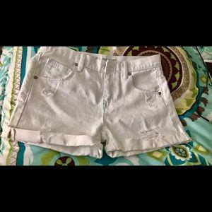 M.Grifoni Denim Pants - Boyfriend midi high waisted short