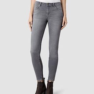 AllSaints Rail Grey Skinny Jeans