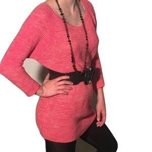 Ann Taylor loft pink knitted sweater tunic