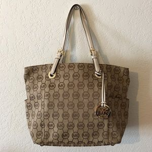 Authentic Michael Kors MK Jet Bag Tote bag