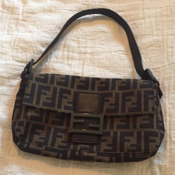Fendi Handbags - Authentic Fendi Zucca Baguette Shoulder Bag 09b62d3b5025e