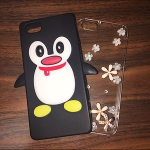 Accessories - PENGUIN iPhone 5/5s case + clear flower bling case