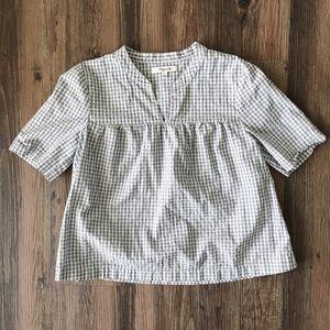 Madewell gingham crop top