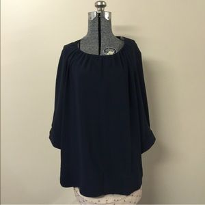 Loose Fitting Black Bell Sleeve Top 2X