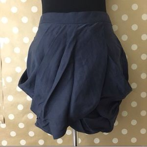 Urban outfitters navy tulip skirt