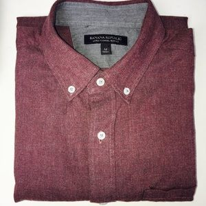 Banana Republic Shirts - Banana Republic Luxe Flannel Slim Fit Button Up