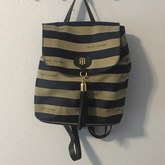 69 off tommy hilfiger handbags tommy hilfiger sailor backpack purse from sabrina 39 s closet. Black Bedroom Furniture Sets. Home Design Ideas