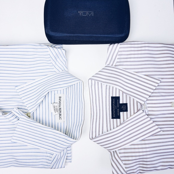 Banana Republic Other - Two Banana Republic Vertical Striped Dress Shirts