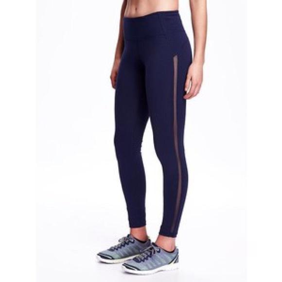 d371590dbdc589 lululemon athletica Pants - Old Navy Mesh Stripe Compression Leggings