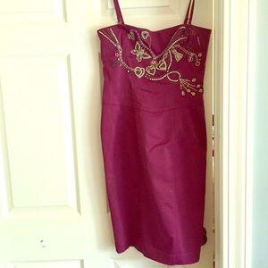 Karen Millen Dresses & Skirts - Karen Millen Embroidered fuschia dress size 8