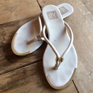 Dolce Vita Cream and gold SZ 7 sandals