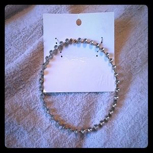 H&M crystal choker necklace