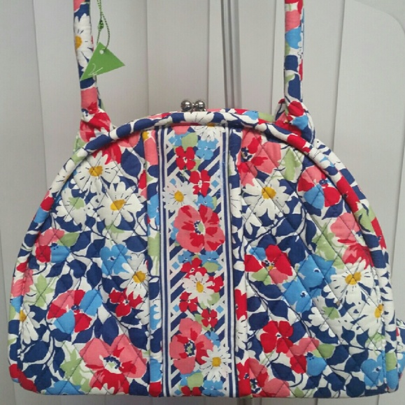 069e87b91e ♡Vera Bradley Eloise satchel purse Summer Cottage♡