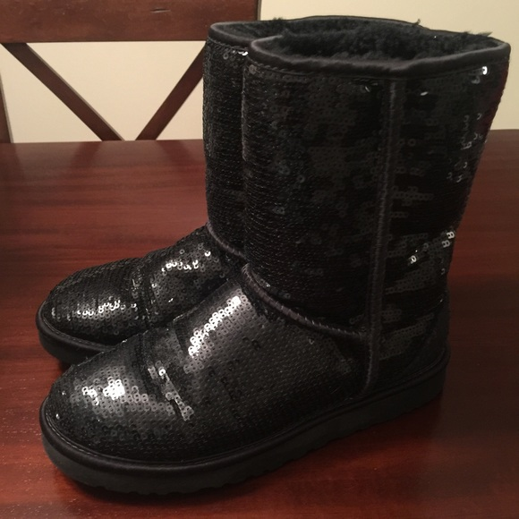 Uggs - Black Sequin Boots.