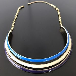 Gorgeous Gold and blue collar necklace!