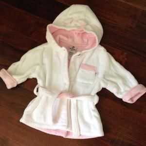 Absorba Other - White with pink bath robe