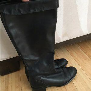 Franco Sarto size 9 black leather boots