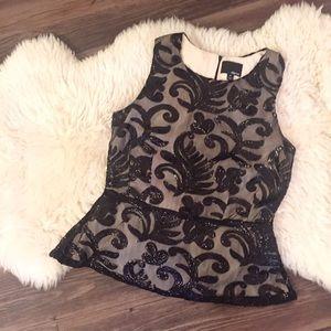 Greylin Tops - Greylin sequin peplum top