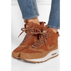 Nike Shoes - Nike Air Max suede and leather high top