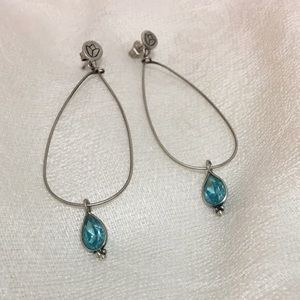 Satya Jewelry Jewelry - Blue Topaz CZ Lotus Earrings and bracelet by Satya