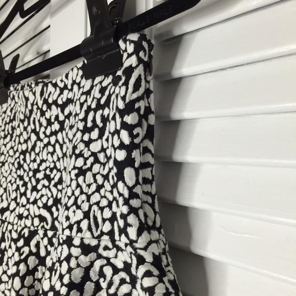 Guess Skirts - Guess Animal Print Ruffle A-Line Skirt