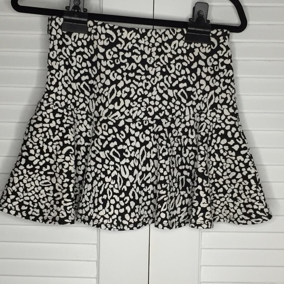 Guess Skirts - Guess Animal Print Ruffle A-Line Skirt