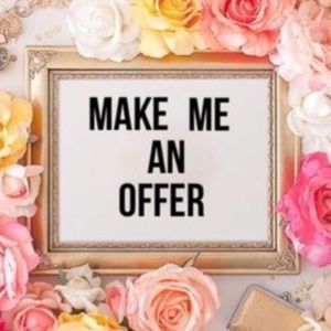Totally in ❤️ with an item??? Pls make an offer!!!