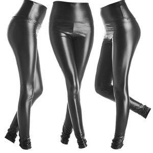 Pants - Faux leather legging shiny black xs s m l XL XXL