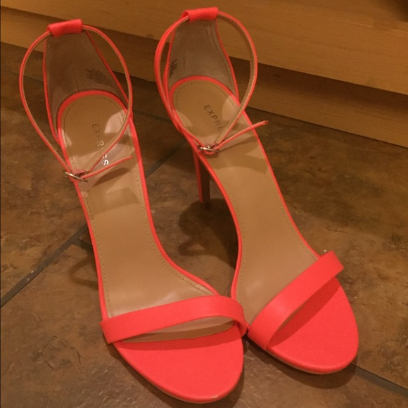 f0d91d25a44 Express Shoes - Express Strappy Heels in Neon Pink Size 9