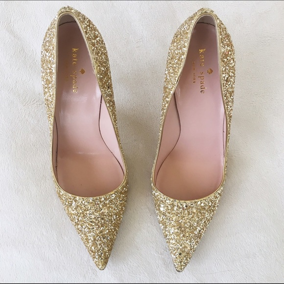7fd965ade95 kate spade Shoes - Kate Spade  Licorice Too  Gold Glitter Pumps