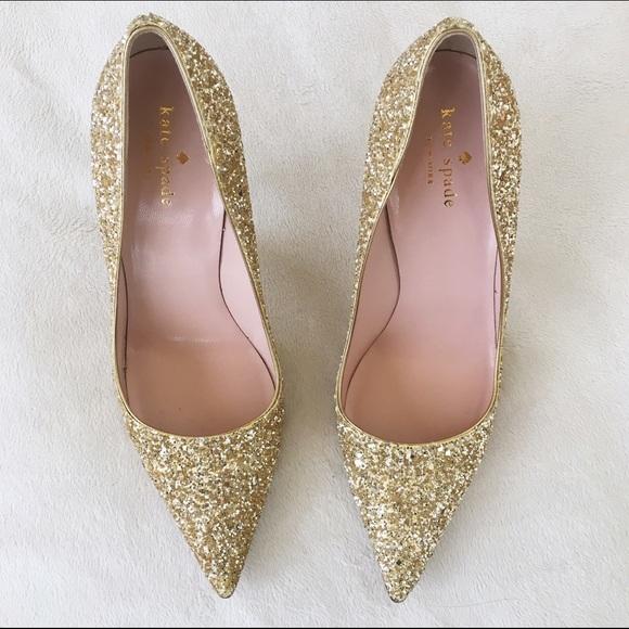 24e4560fe19e kate spade Shoes - Kate Spade  Licorice Too  Gold Glitter Pumps