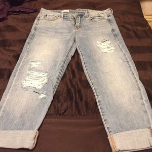 Gap 1969 cropped/cuffed jeans
