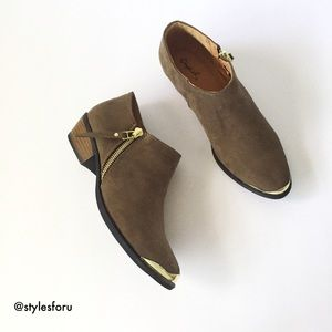 Shoes - NWT. Khaki ankle booties