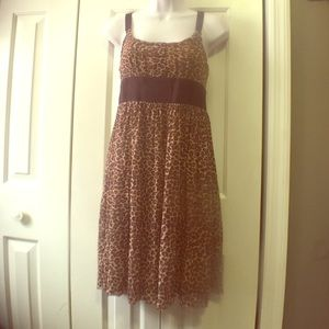 Leopard print dress from Cache size small