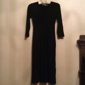 Boden black midi dress size 2