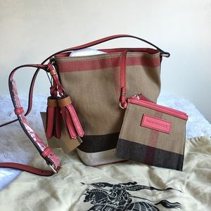 NWT Burberry Mini Ashby Canvas Check Crossbody