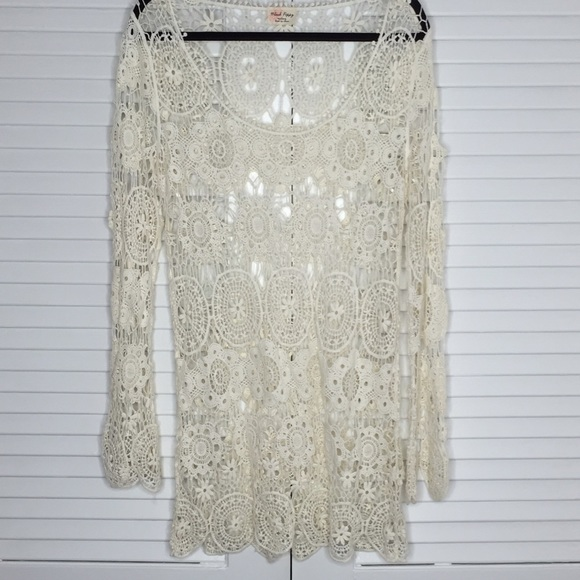 PacSun Dresses - NWOT PacSun Black Poppy Crochet Tunic Dress
