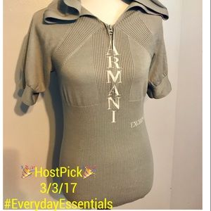 🎉HP 3/3/17🎉 ARMANI Short sleeve hooded sweater