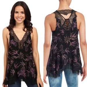 NWT Free People Bellflower Printed Tunic