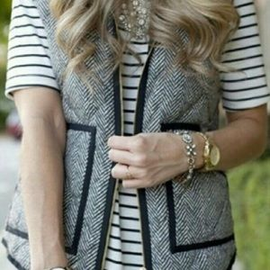 Fashionomics Jackets & Blazers - Only 1 Left! Herringbone Printed Quilted Vest