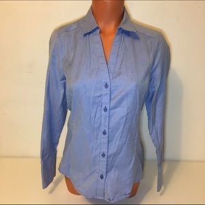 ANN TAYLOR FRONT BUTTON LONG SLEEVE TOP