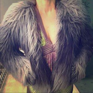 NWT Rachel Zoe Fur Ombré Jacket