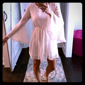 Paper Crane Dresses & Skirts - Blush/Nude Flowy Dress Perfect for Fall
