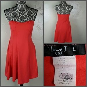Love J Dresses & Skirts - Coral Strapless Dress by Love J Size Large