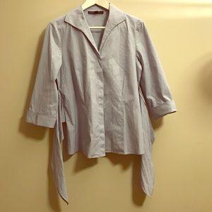 Lafayette 148 New York Tops - Lafayette 148 cotton bottom down shirt