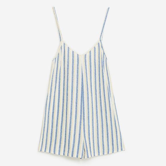 d568d55d NWT Zara Short Striped Jumpsuit