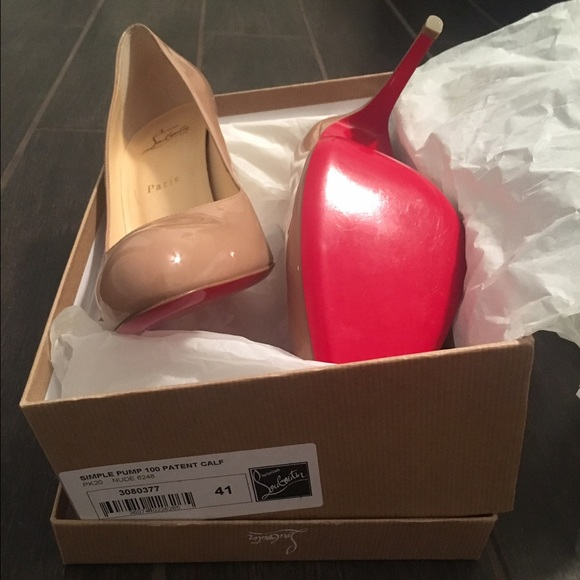 the latest 1bc13 4c50f Christian Louboutin Simple Pump 100 Patent Calf 41 NWT