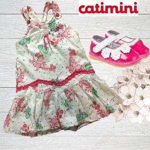 Catimini Other - Catimini🎀Floral Dress With Cross Back Straps🍃🌷