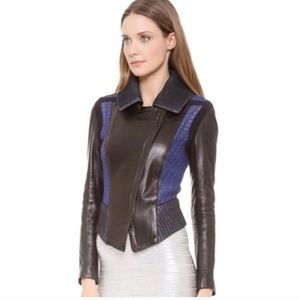 Ohne Titel Runway Color Block Leather Jacket Small