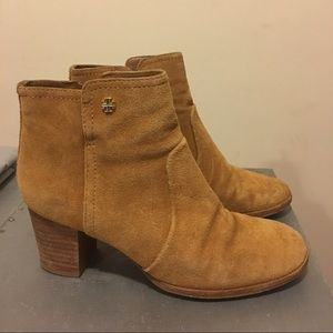 Tory Burch Sabe Suede Ankle Boots